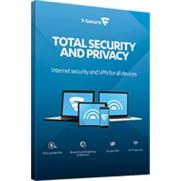 F-SECURE Total Security and Privacy 1year(s) Full license Multilingual FCFTBR1N003E1