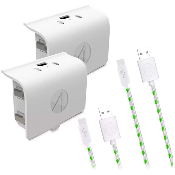 Stealth White Xbox One Play and Charge Kit Twin Pack