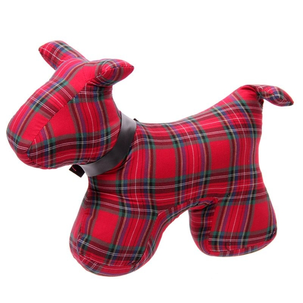 Tartan Scottie Dog Polyester Door Stop