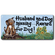 Husband And Dog Missing Smiley Magnet Pack Of 12