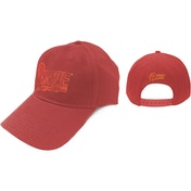 David Bowie - Flash Logo Men's Baseball Cap - Red