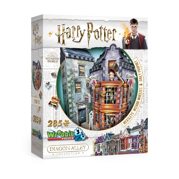 Wrebbit 3D Harry Potter Diagon Alley Collection: Weasleys' Wizard Wheezes Jigsaw Puzzle - 285 Pieces - Image 1