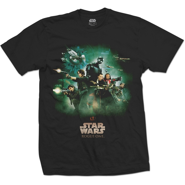 Star Wars - Rogue One Rebels Poster Unisex X-Large T-Shirt - Black