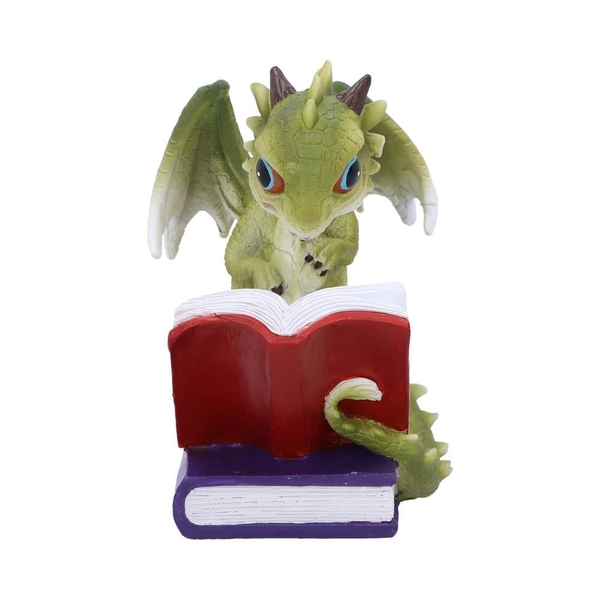 Dragon Stories Green Dragon Reading Figurine