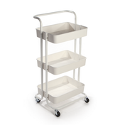 3 Tier Storage Trolley | M&W White