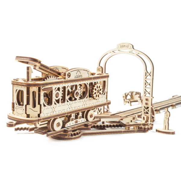 Tram Line UGears 3D Wooden Model Kit