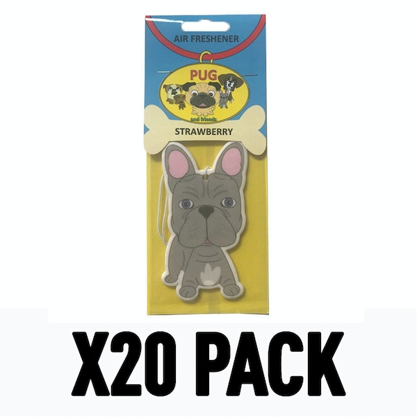 French Bulldog Strawberry (Pack Of 20) Air Freshener