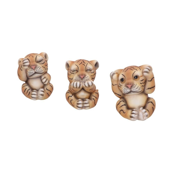 Three Wise Tigers Figurines