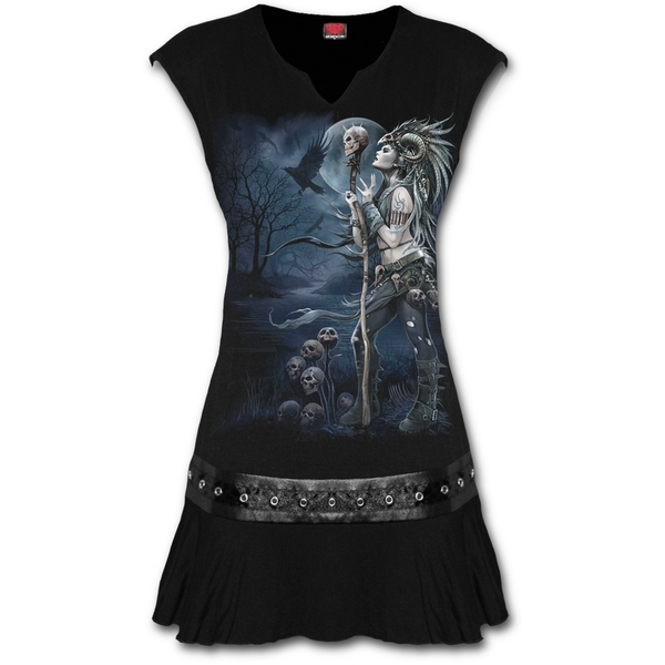 Raven Queen Women's X-Large Stud Waist Mini Dress - Black - Image 1
