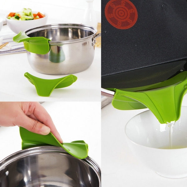 Silicone Clip on Pan Sieve & Strainer | FREE Clip On Pour Spout | M&W - Image 3