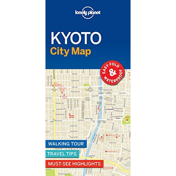 Lonely Planet Kyoto City Map  Sheet map, folded 2017