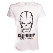 Call Of Duty Black Ops 3 III Men's Skull Logo X-Large White T-Shirt