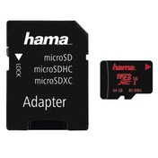 Hama microSDXC 64GB UHS Speed Class 3 UHS-I 80MB/s + Adapter/Photo