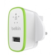 Belkin Ultra Fast 2.4 Amp USB iPad & Tablets Mains Charger (White)