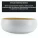 Bamboo Serving Bowl | M&W Large White - Image 3