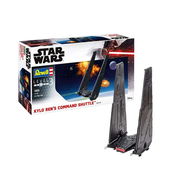 Kylo Ren's Command Shuttle (Star Wars) Level 3 1:93 Scale Revell Model Kit - Image 1