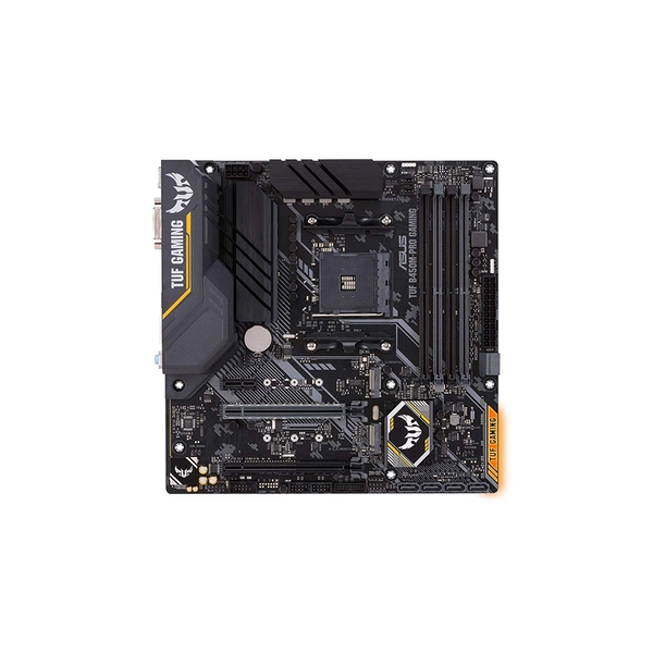 Asus TUF B450M-PRO GAMING, AMD B450, AM4, Micro ATX, 4 DDR4, XFire, DVI,  HDMI, M 2, RGB Lighting