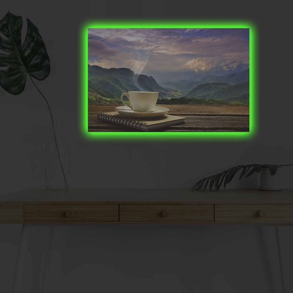 4570KDACT-010 Multicolor Decorative Led Lighted Canvas Painting