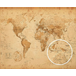World Map Antique Style Mini Poster - Image 2