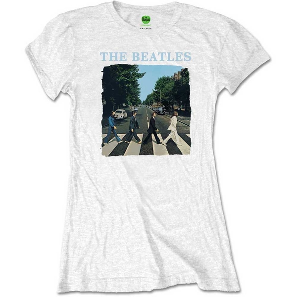 The Beatles - Abbey Road & Logo Ladies XX-Large T-Shirt - White