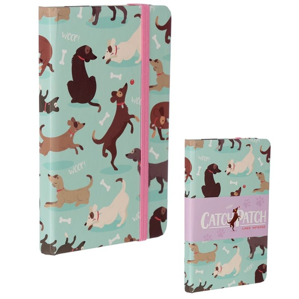 Catch Patch Dog Notepad/Notebook with Elastic Band