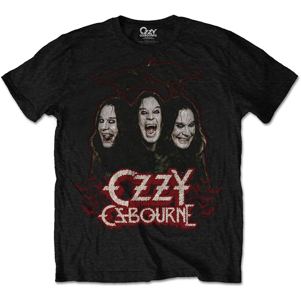Ozzy Osbourne - Crows & Bars Men's X-Large T-Shirt - Black