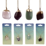 Gemstone & Mineral Tumbled (Pack Of 4) Pendant Necklace