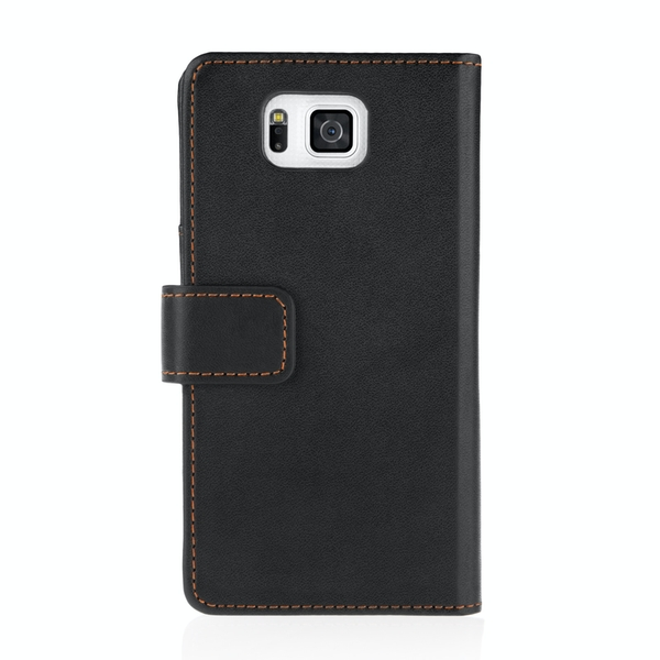 YouSave Accessories Samsung Galaxy Alpha Leather-Effect Wallet Case - Black - Image 2