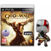 God Of War Ascension Game + Kratos Sackboy Keyring PS3
