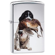 Zippo Springer Spaniel High Polish Chrome Windproof Lighter