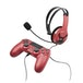 Official Licensed PS4 Wired Chat Headset Red for PS4 - Image 2