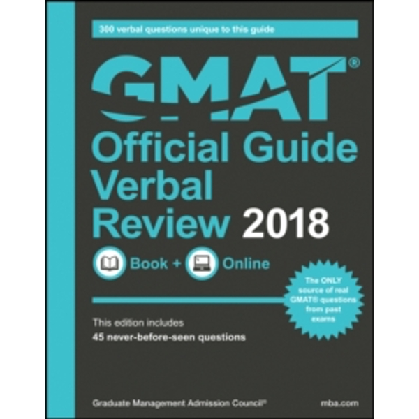 GMAT Official Guide 2018 Verbal Review: Book + Online