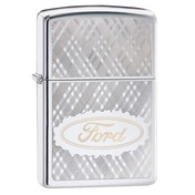 Zippo Ford Script Patterned Chrome Regular Windproof Lighter