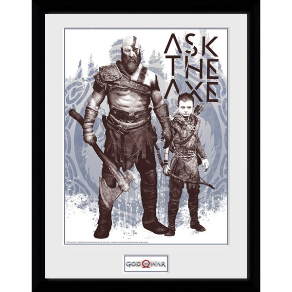 God of War Ask The Axe Collector Print