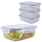 Set of 4 Glass Airtight Food Storage Containers   M&W