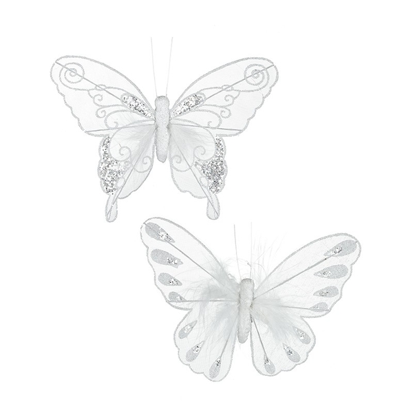 Opaque Butterfly Decorations (Set of 2)