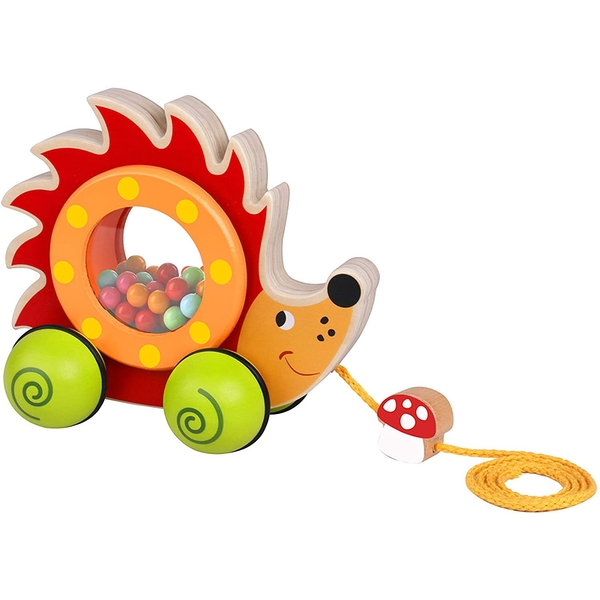 Hedgehog Wooden Pull Along Toy