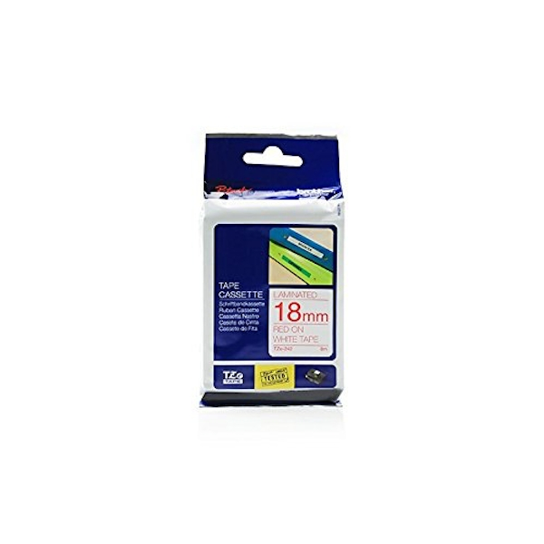TZe Label Tape for P-touch Laminated 18mm Wide 8m Long White