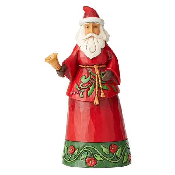 Sound The Christmas Bell Santa with Bell Figurine