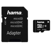 Hama microSDHC 16GB Class 10 UHS-I 80MB/s + Adapter/Photo