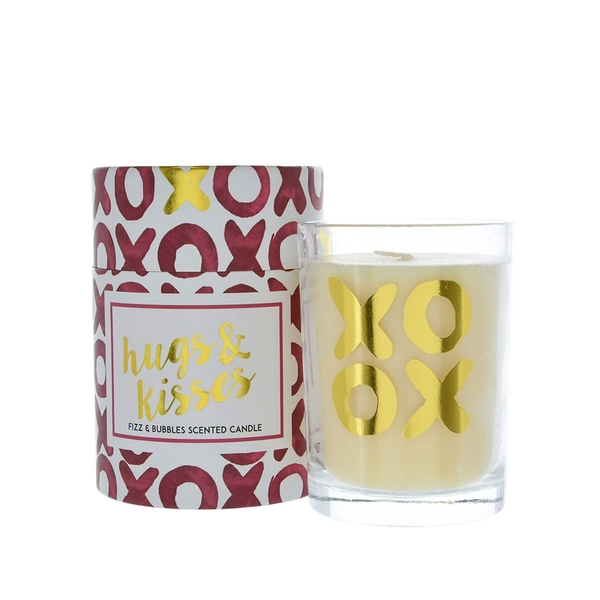 Candlelight Hugs & Kisses Wax Filled Pot Candle in Gift Box Prosecco Scent