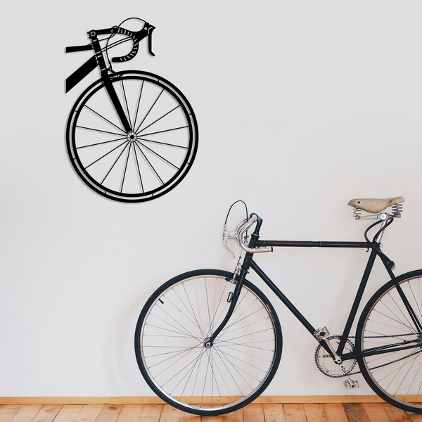 Bicycle Black Decorative Metal Wall Accessory