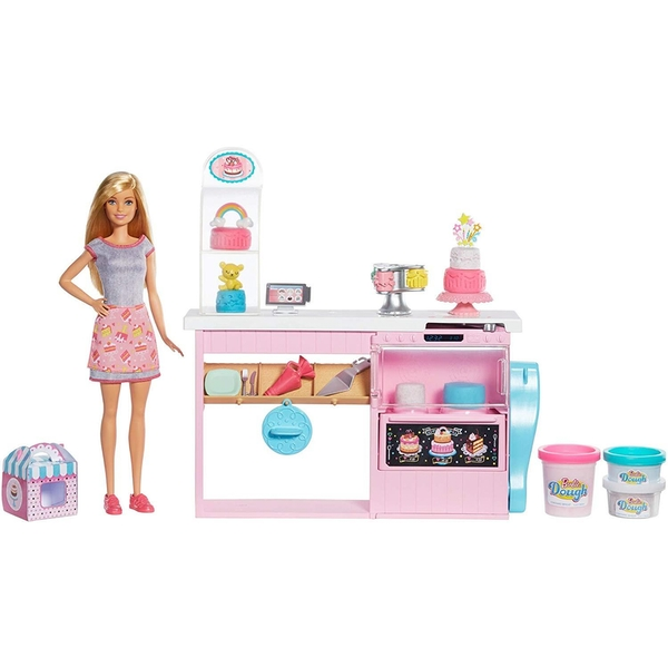 Barbie You Can Be Anything Doll And Cake Decorating Playset