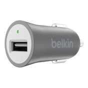 Belkin Premium  Ultra-Fast 2.4amp USB Car Charger with Connected Equipment Warranty - Grey