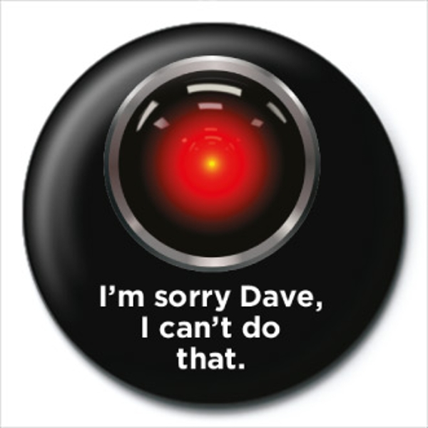 2001: A Space Odyssey - HAL Badge