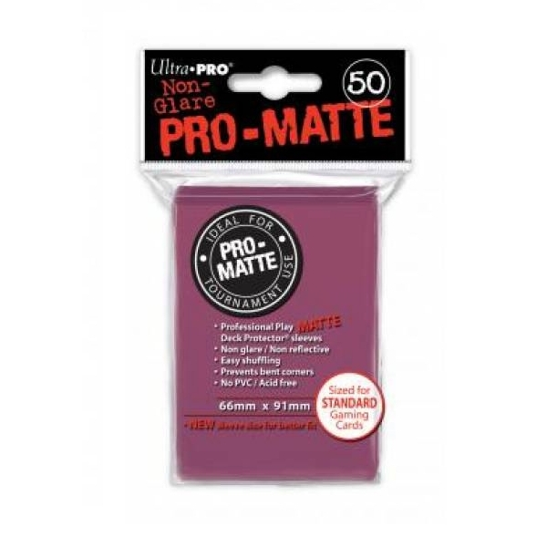 Ultra Pro Pro Matte Deck Protectors Blackberry - Pack of 12