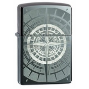 Zippo Black Ice Compass Black Ice Finish Windproof Lighter