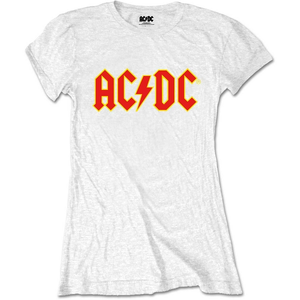 AC/DC - Logo Women's Large T-Shirt - White
