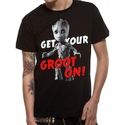 Guardians Of The Galaxy Vol 2 - Get Your Groot On Men's Medium T-Shirt - Black