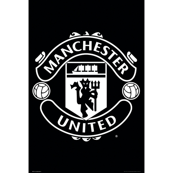 b63797804b0 Hey! Stay with us... Manchester United Crest 17 18 Maxi Poster